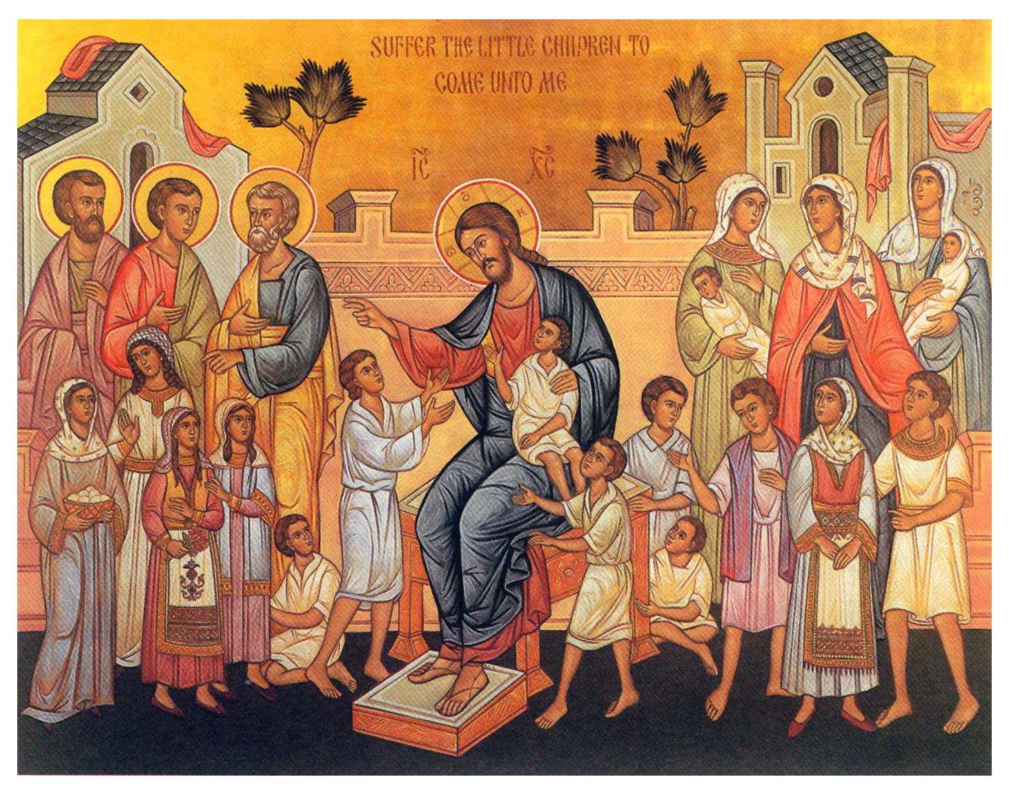 Gesù e i bambini dans immagini sacre christ-children